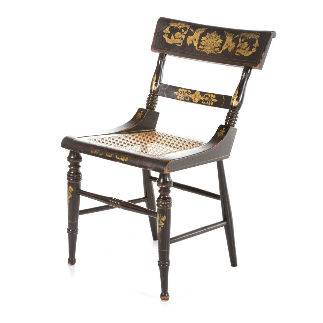 Six American Classical painted chairs - 4