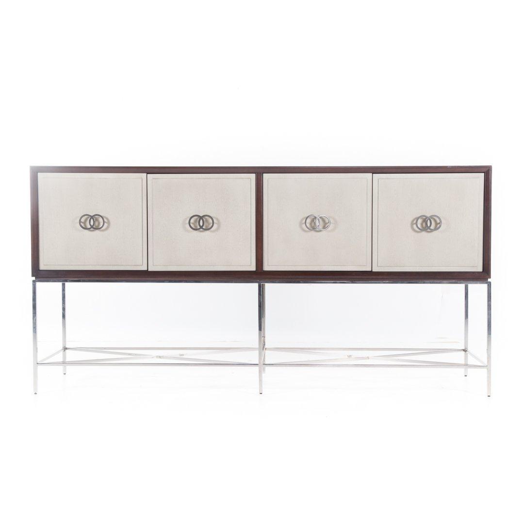 Vanguard contemporary mahogany finish credenza
