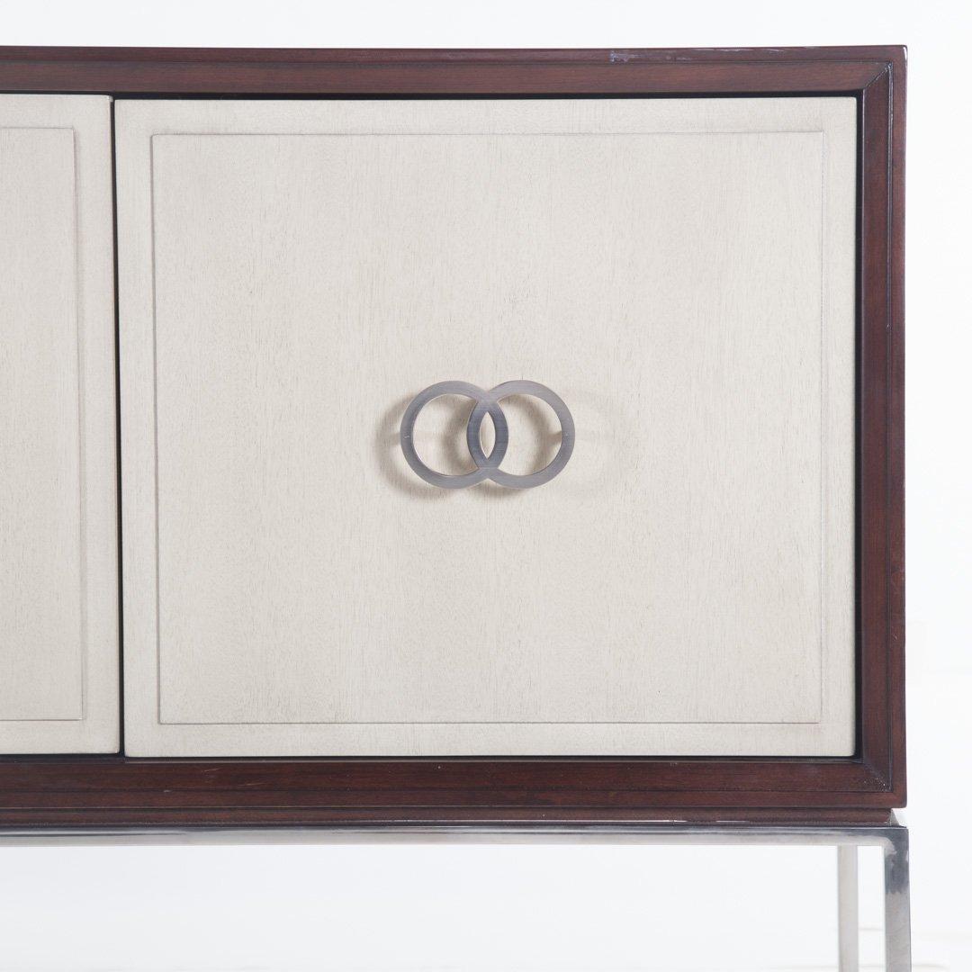 Vanguard contemporary mahogany finish credenza - 2