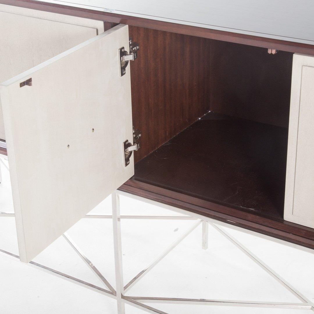 Vanguard contemporary mahogany finish credenza - 3