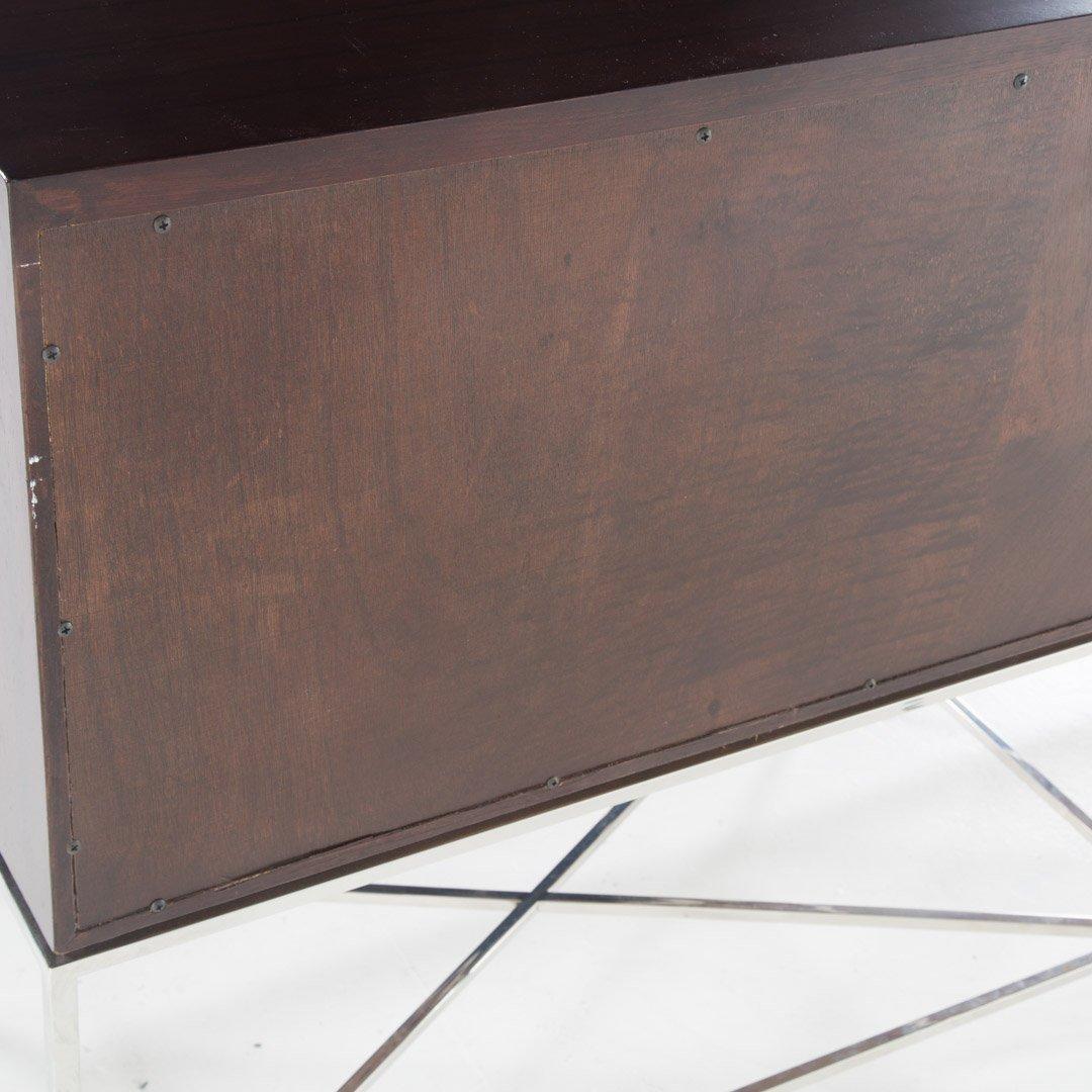 Vanguard contemporary mahogany finish credenza - 4