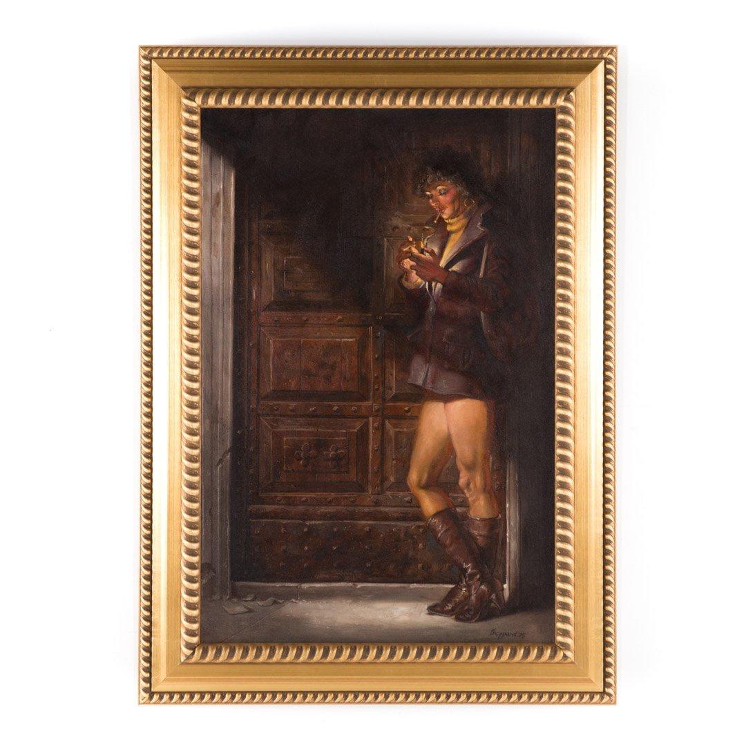 Joseph Sheppard. Woman in Doorway, oil on canvas