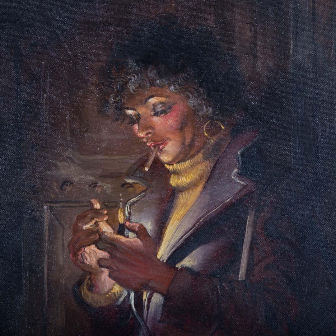 Joseph Sheppard. Woman in Doorway, oil on canvas - 2