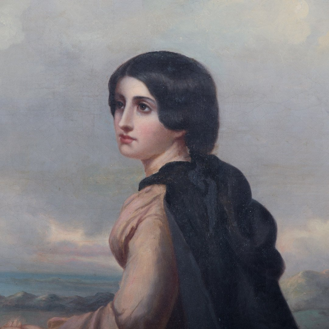 Continental School, 19th c. Portrait of a Lady - 2