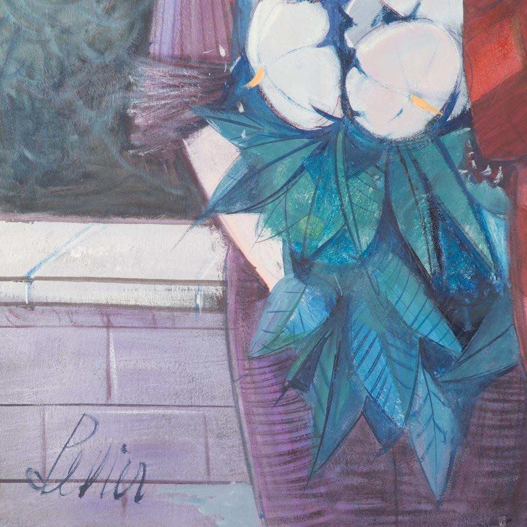 "Charles Levier. ""Saltimbanque et la Femme,"" oil - 2"