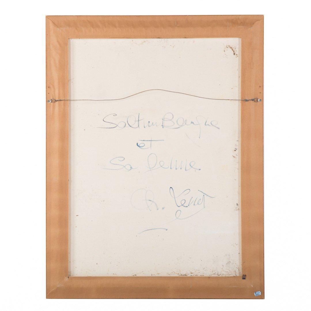 "Charles Levier. ""Saltimbanque et la Femme,"" oil - 3"