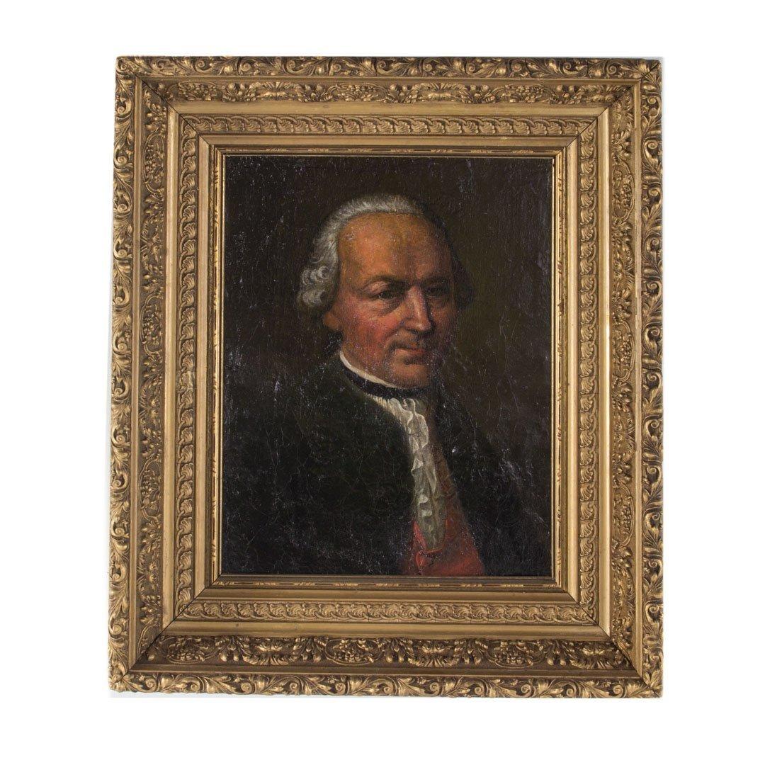 German School,18th c. Portrait of K. Gerstner, oil