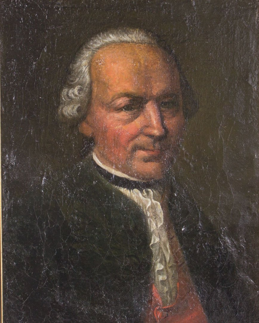 German School,18th c. Portrait of K. Gerstner, oil - 2