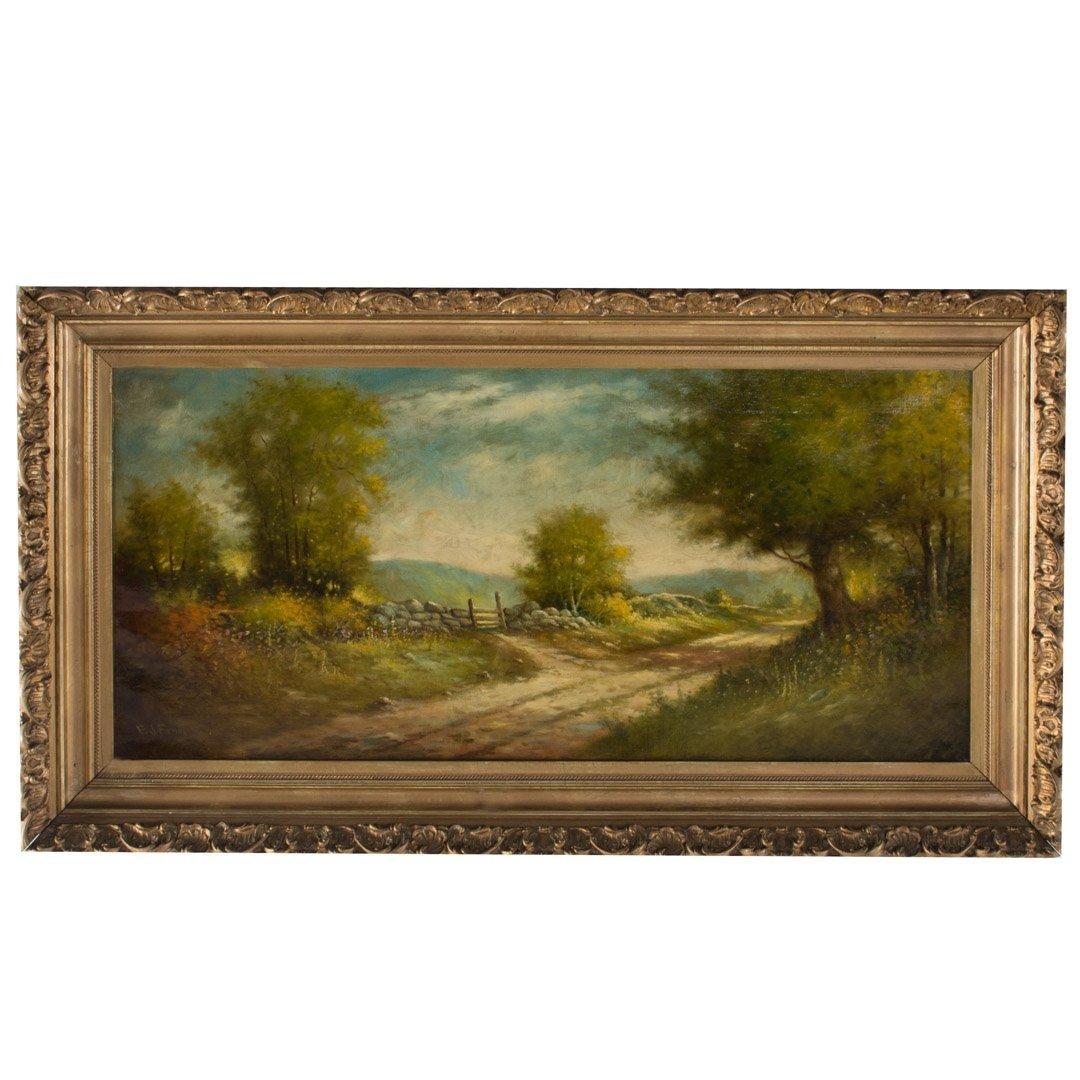 Elbridge J. Fenn. Country Landscape, oil on canvas
