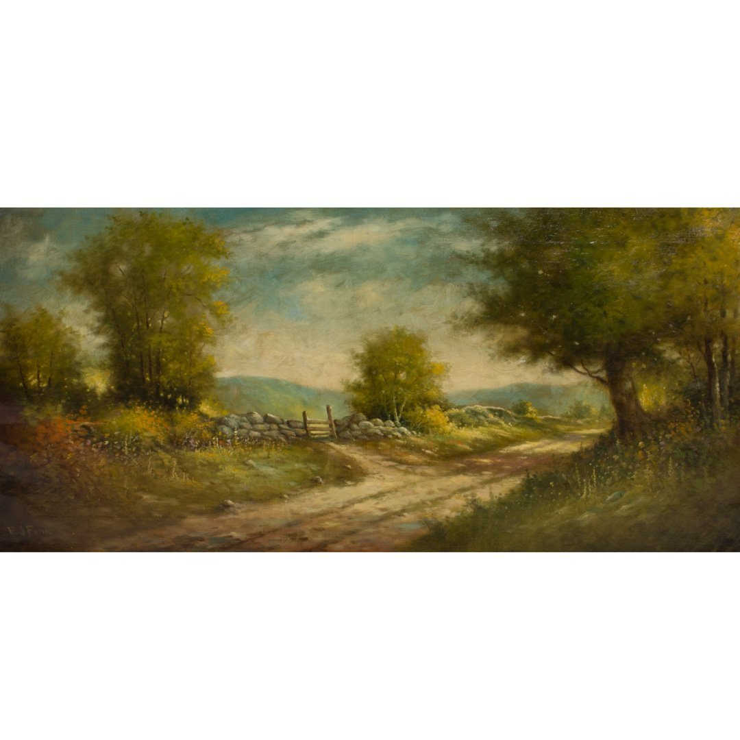 Elbridge J. Fenn. Country Landscape, oil on canvas - 2
