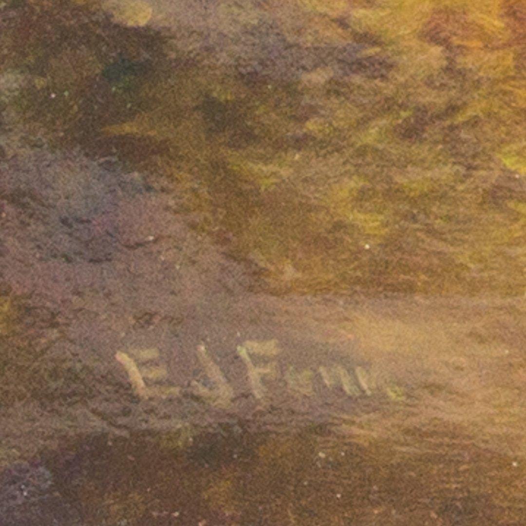 Elbridge J. Fenn. Country Landscape, oil on canvas - 3