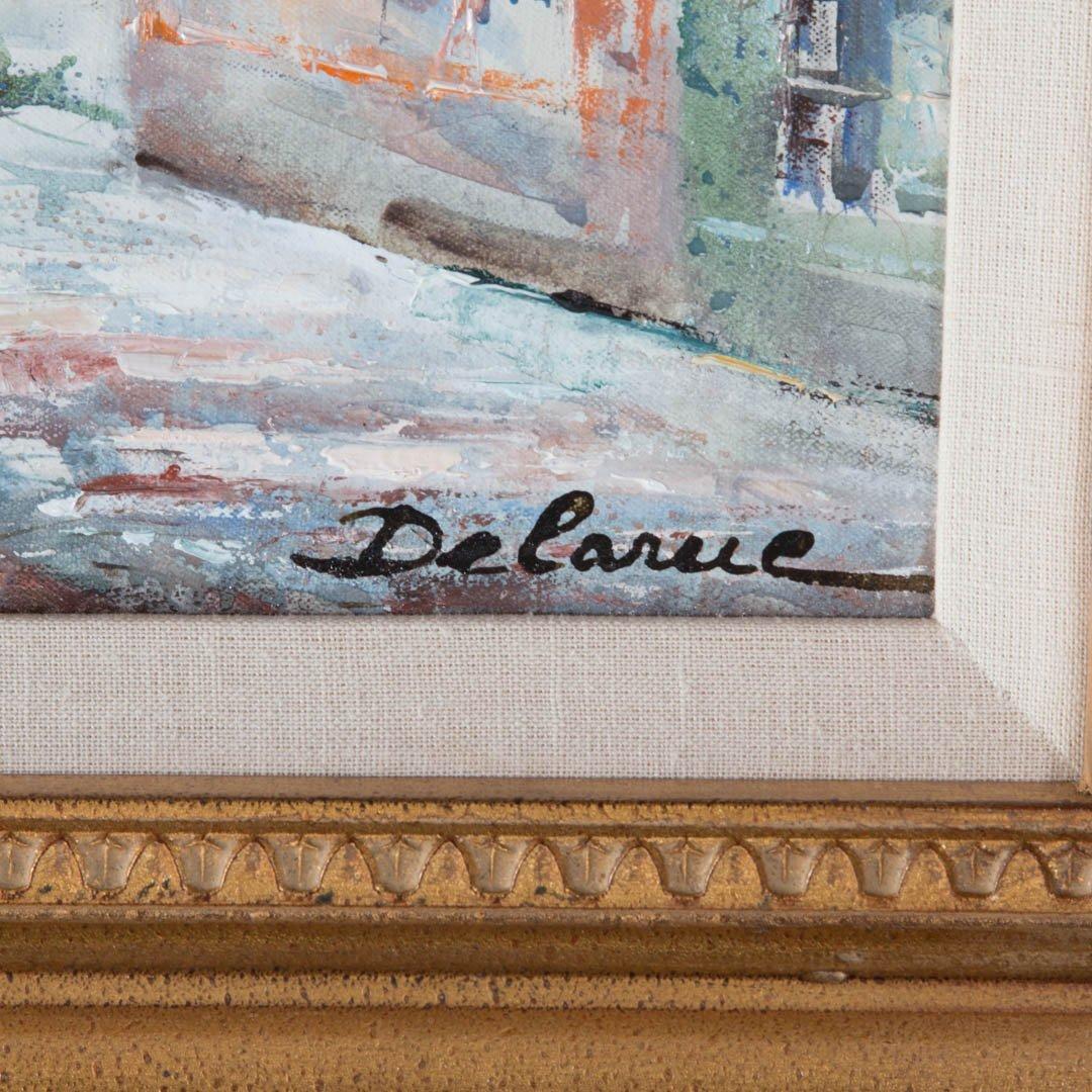 Lucien Delarue. Parisian Neighborhood, oil - 2