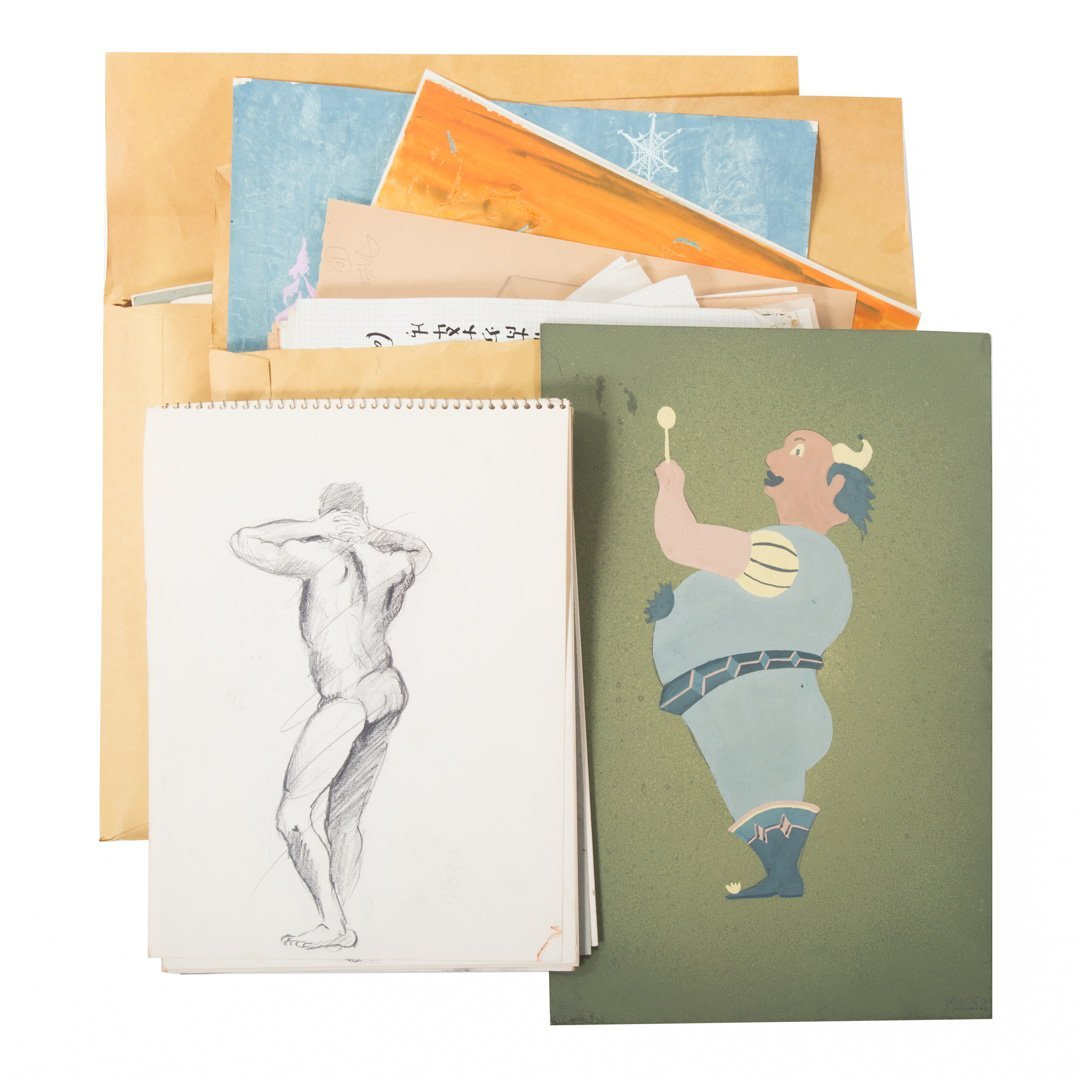 Melvin Miller. Group of assorted sketches and art - 4