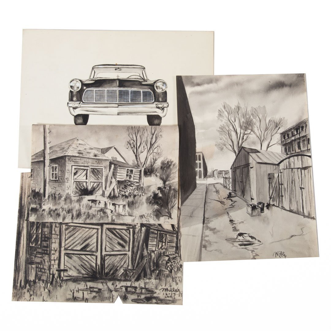 Melvin Miller. Group of assorted sketches and art - 5