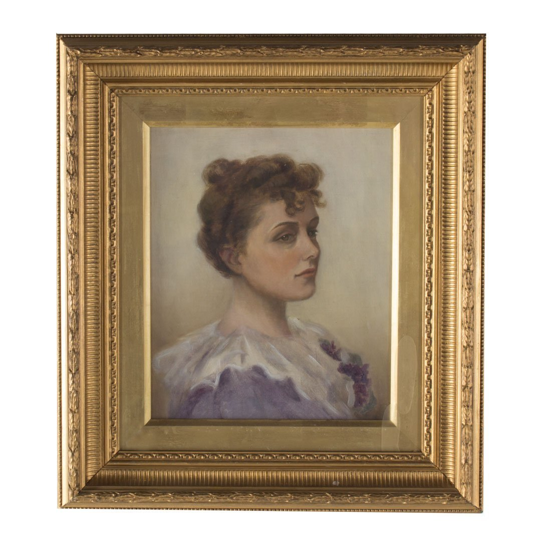 British School, 19th c. Portrait of a Lady, oil