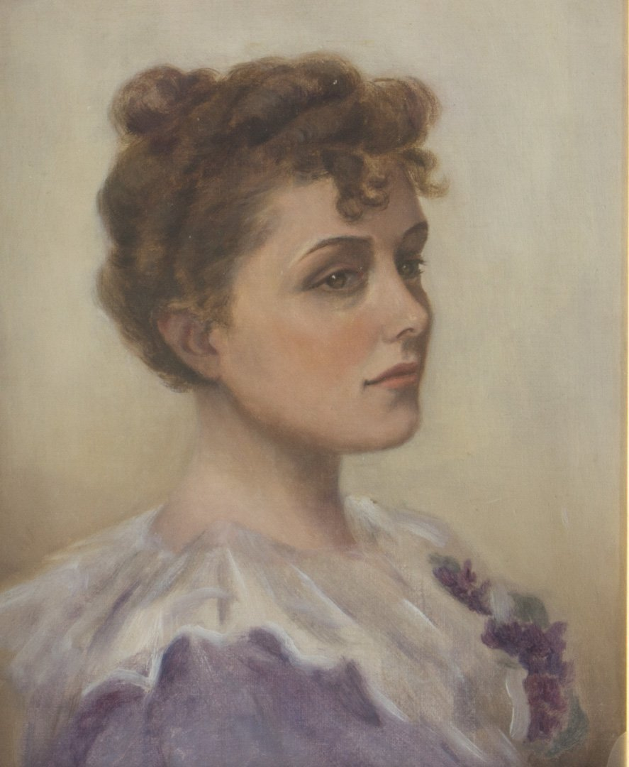 British School, 19th c. Portrait of a Lady, oil - 2