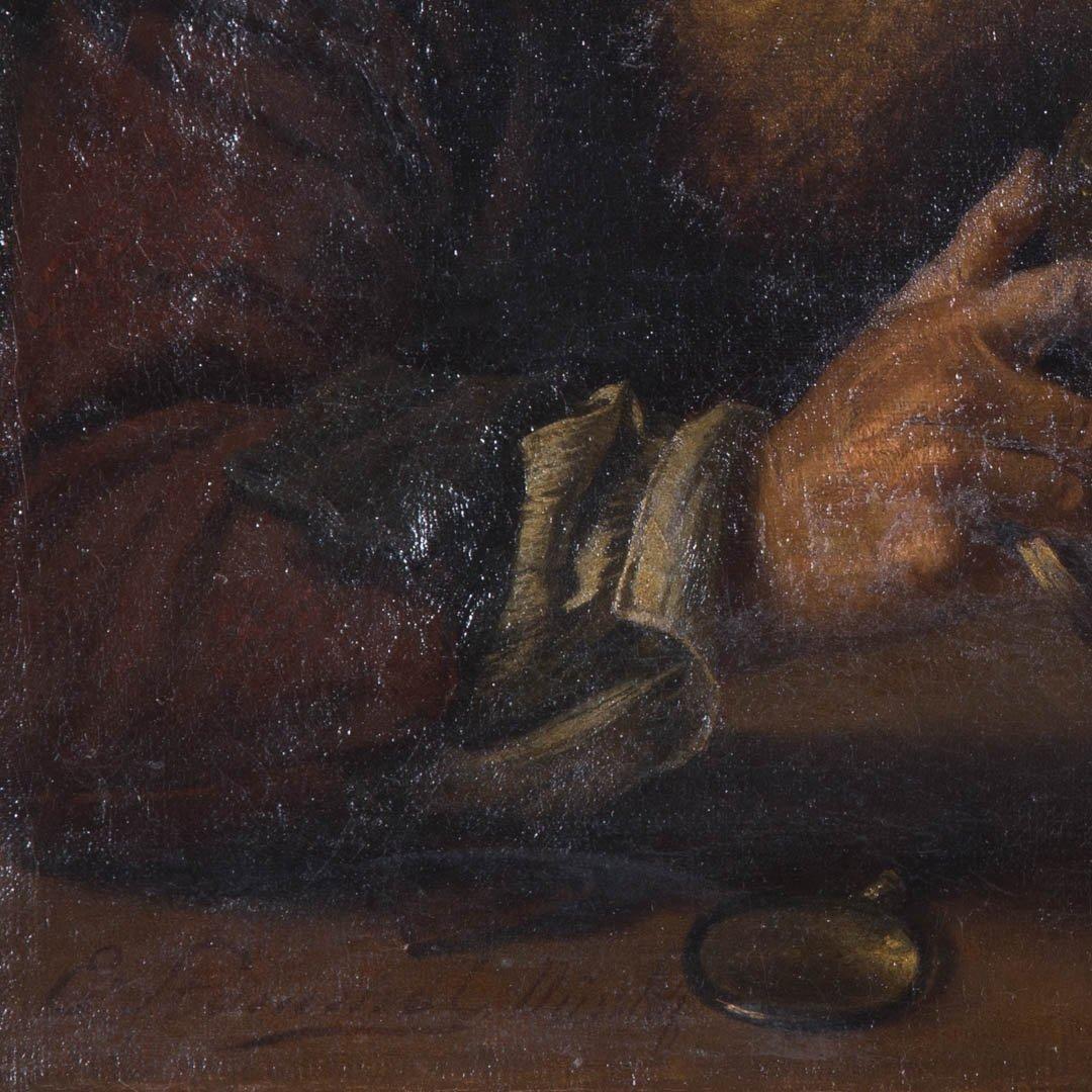 Eberhard Stammel. Man Examining a Ewer, oil - 2