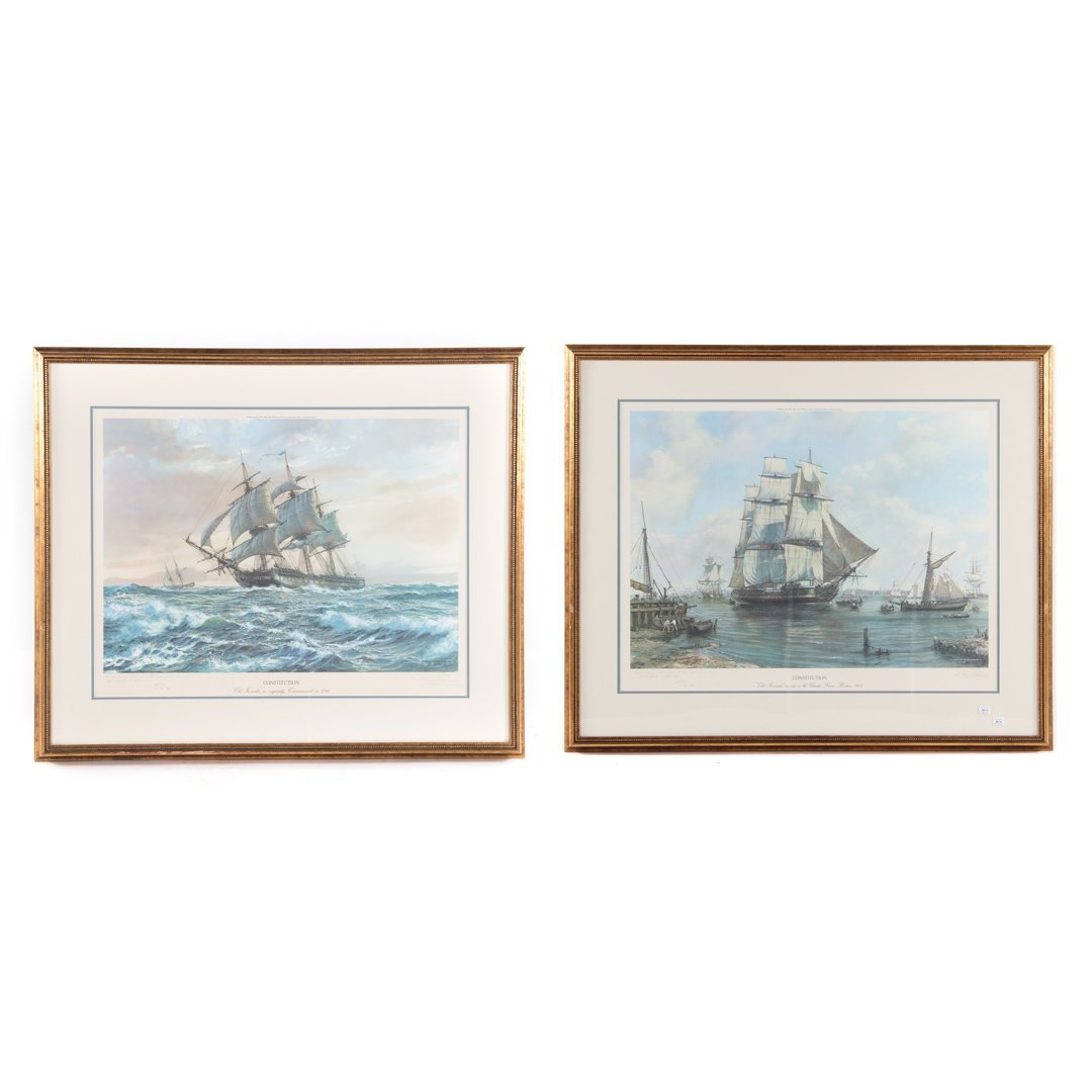 """Roy Cross. Two Serigraphs of the """"Constitution"""""""