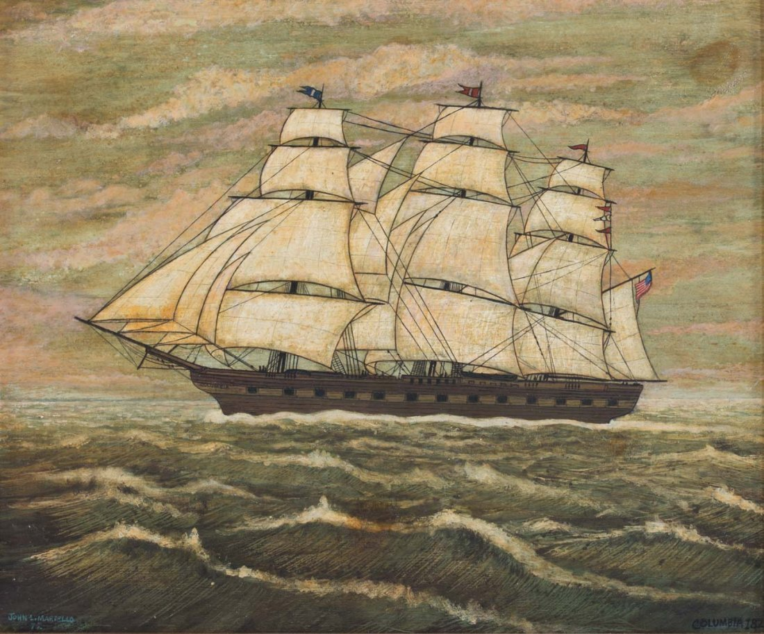 "John L. Martello. ""Columbia, 1822,"" oil on board - 2"