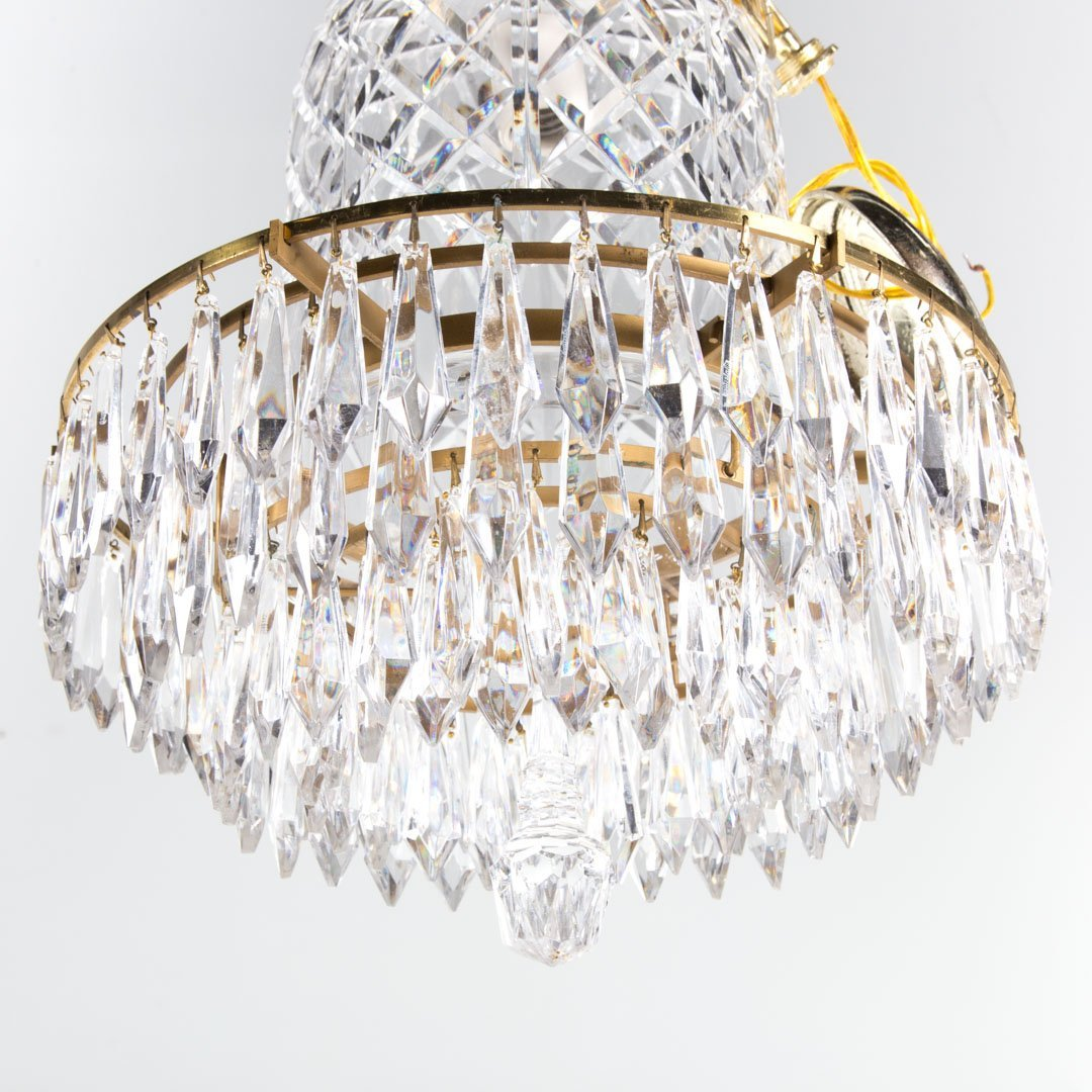 Waterford crystal and brass chandelier - 2