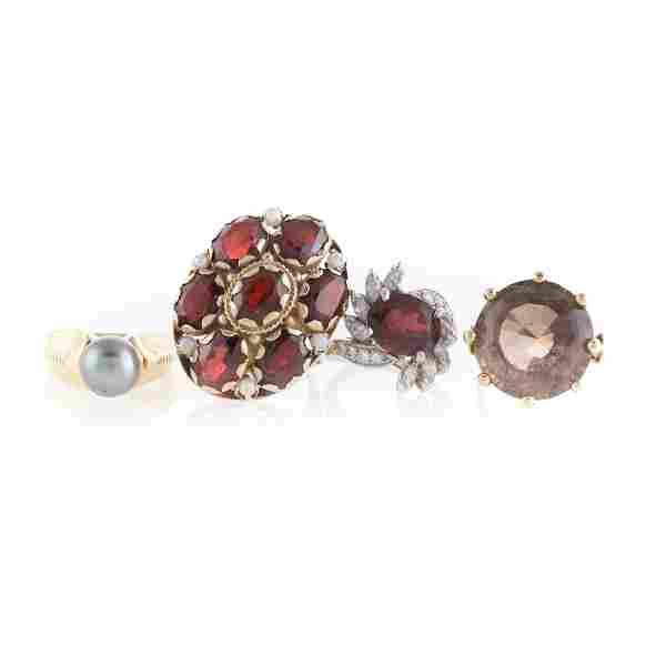 Four Lady's Gemstone Rings