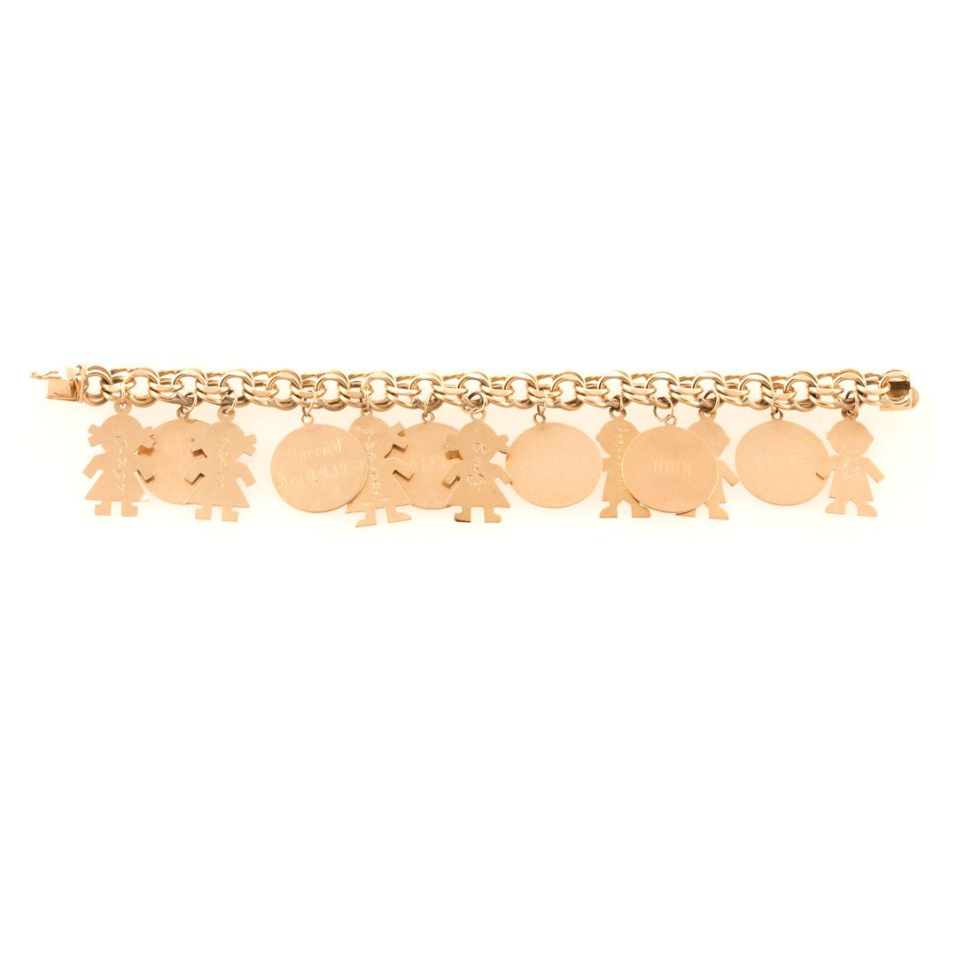 A Personalized Charm Bracelet in 14K Gold