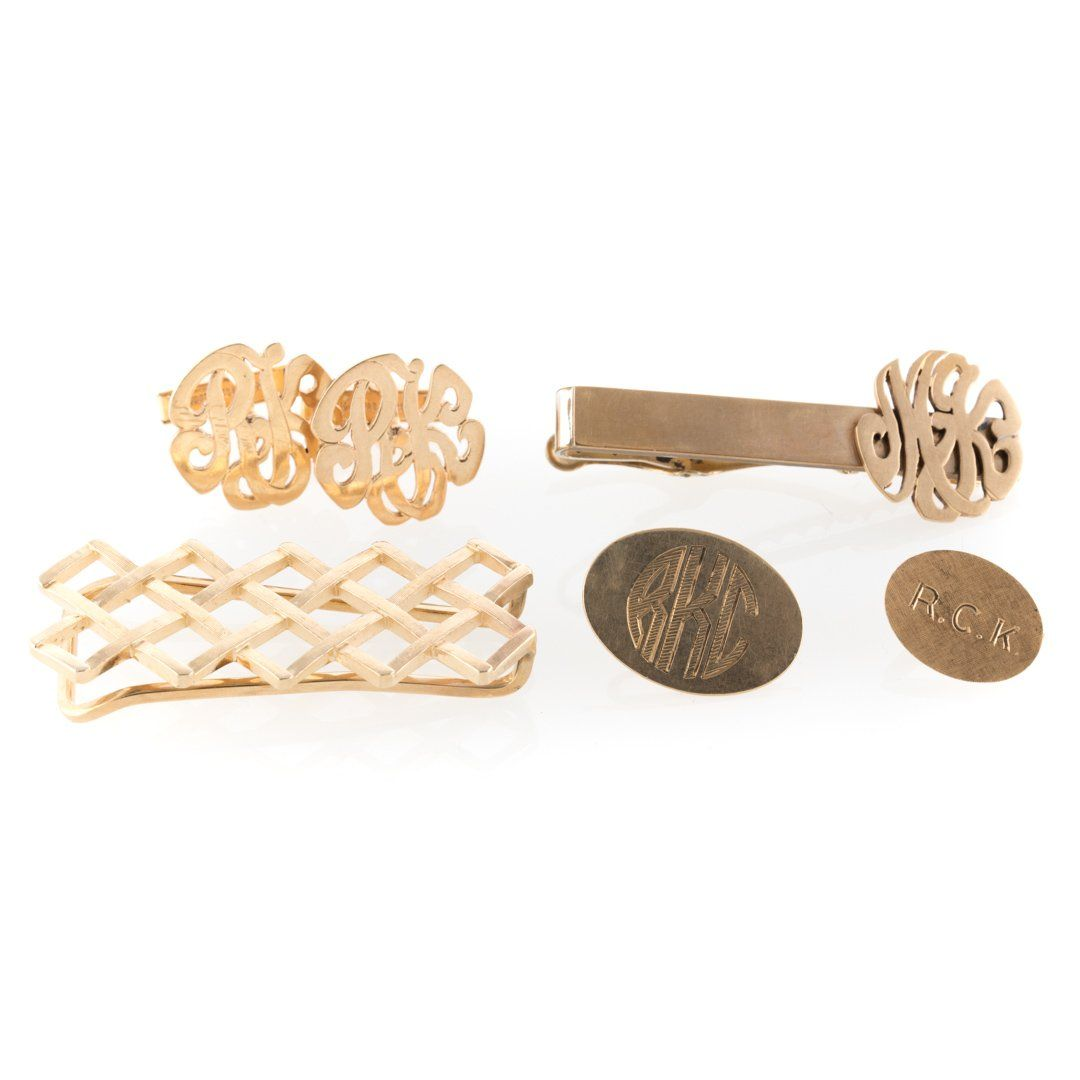 A Collection of Gentlemen's 14K Gold Jewelry