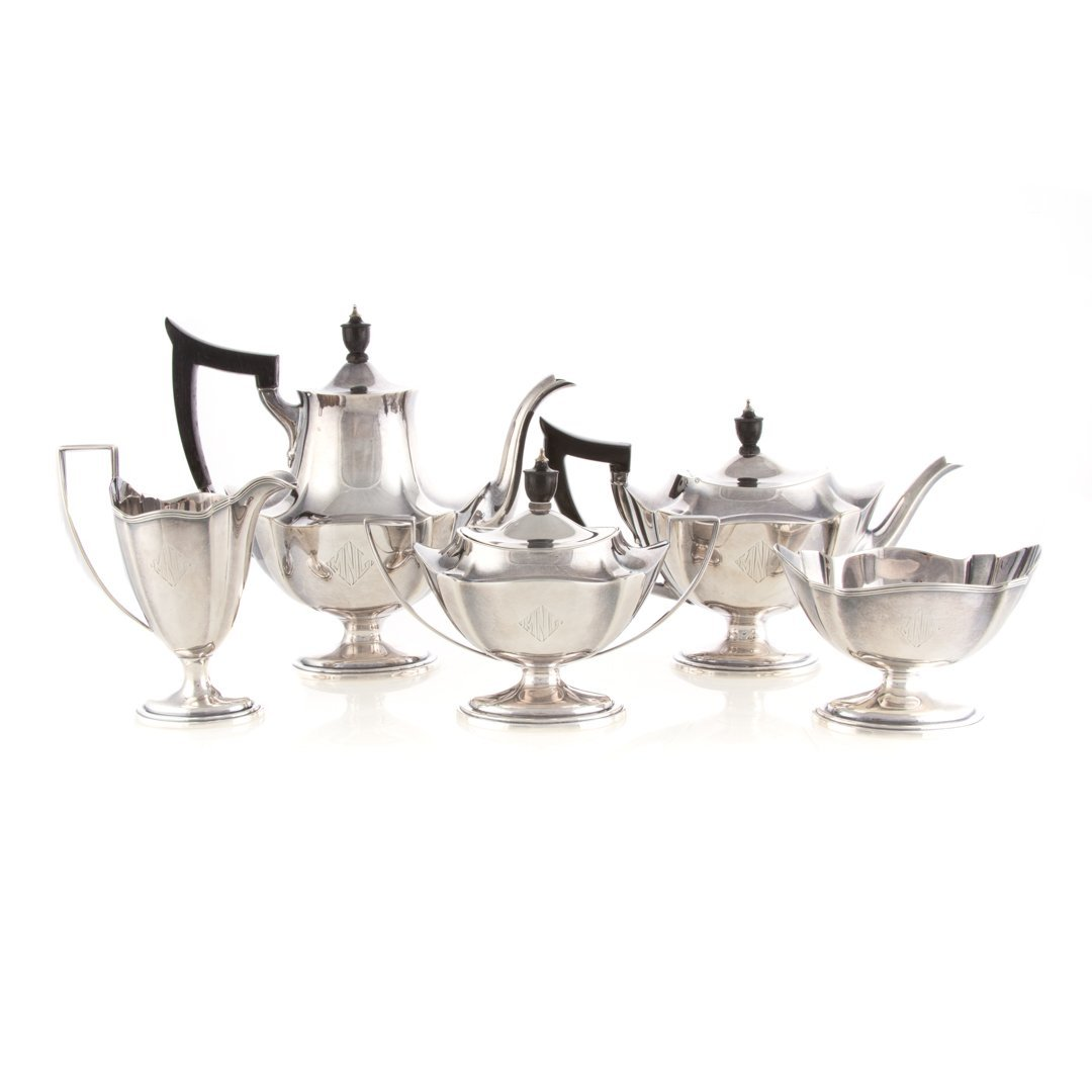 "Gorham ""Plymouth"" sterling 5-pc coffee/tea set"