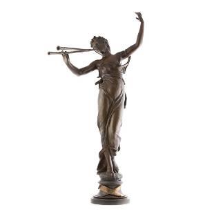 Eugene Marioton. French bronze Muse des Bois