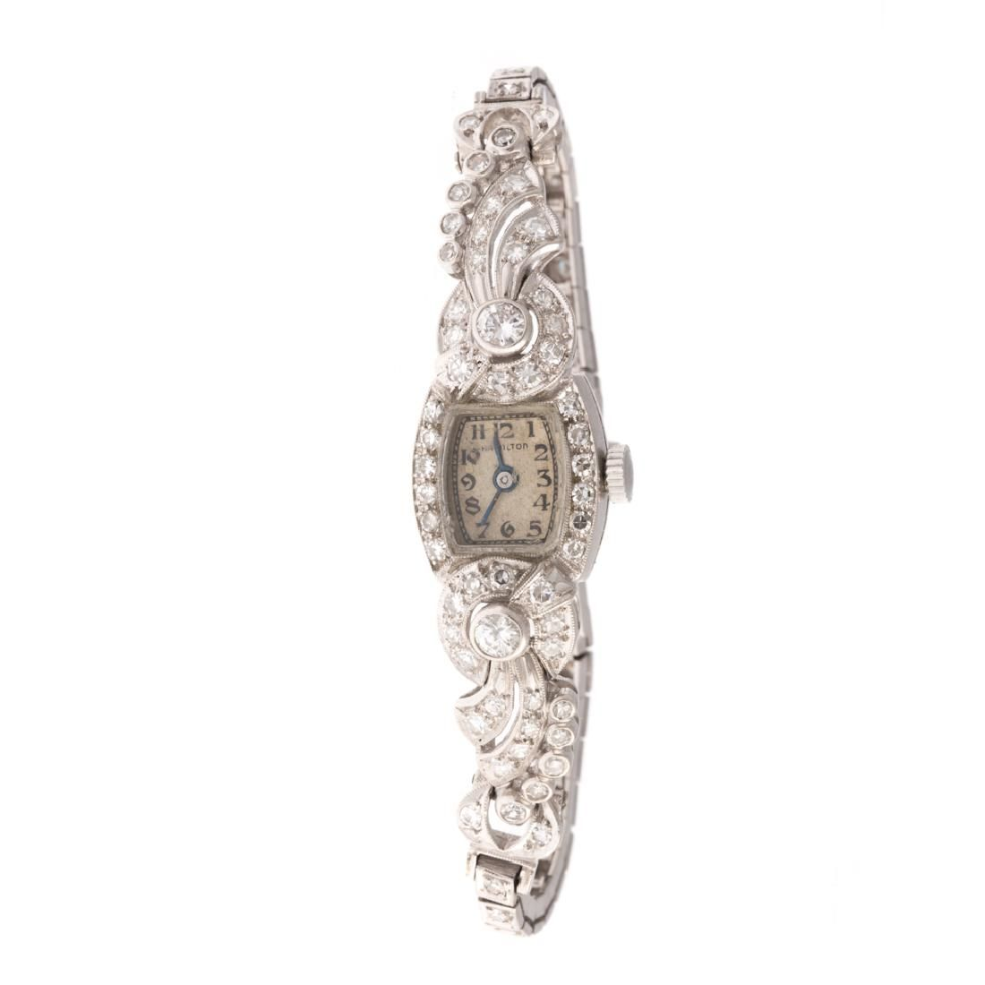 A Lady's Diamond Cocktail Watch in Platinum