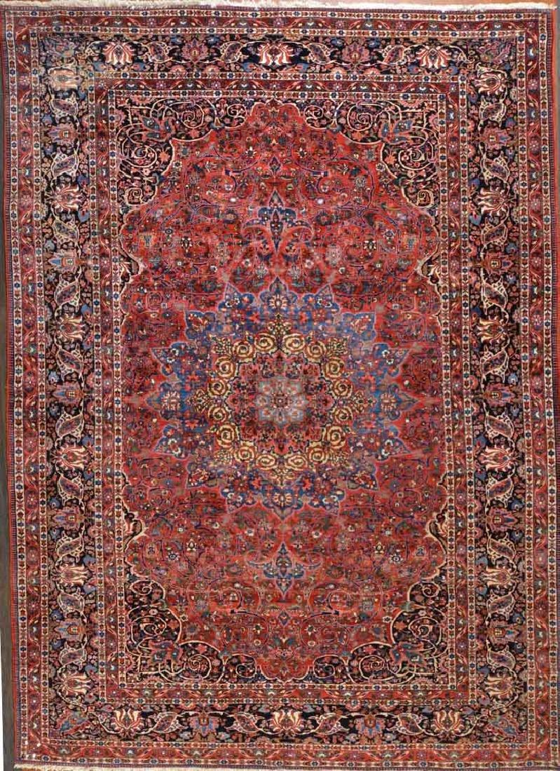 Semi-antique Bahktiari carpet, approx. 12.4 x 17