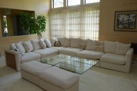 Mcm Drexel Heritage White Upholstered L Sectional Couch