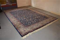 Vintage 1950's Hand Knotted Wool Persian Iranian Rug