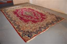 Kerman 1950's Hand Knotted Wool Persian Area Rug