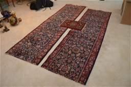 Hamadan Persian Rug Runner Cut in half + Prayer rug