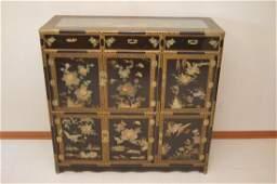 Antique Korean/Chinese Cabinet w/ Soapstone & Jade