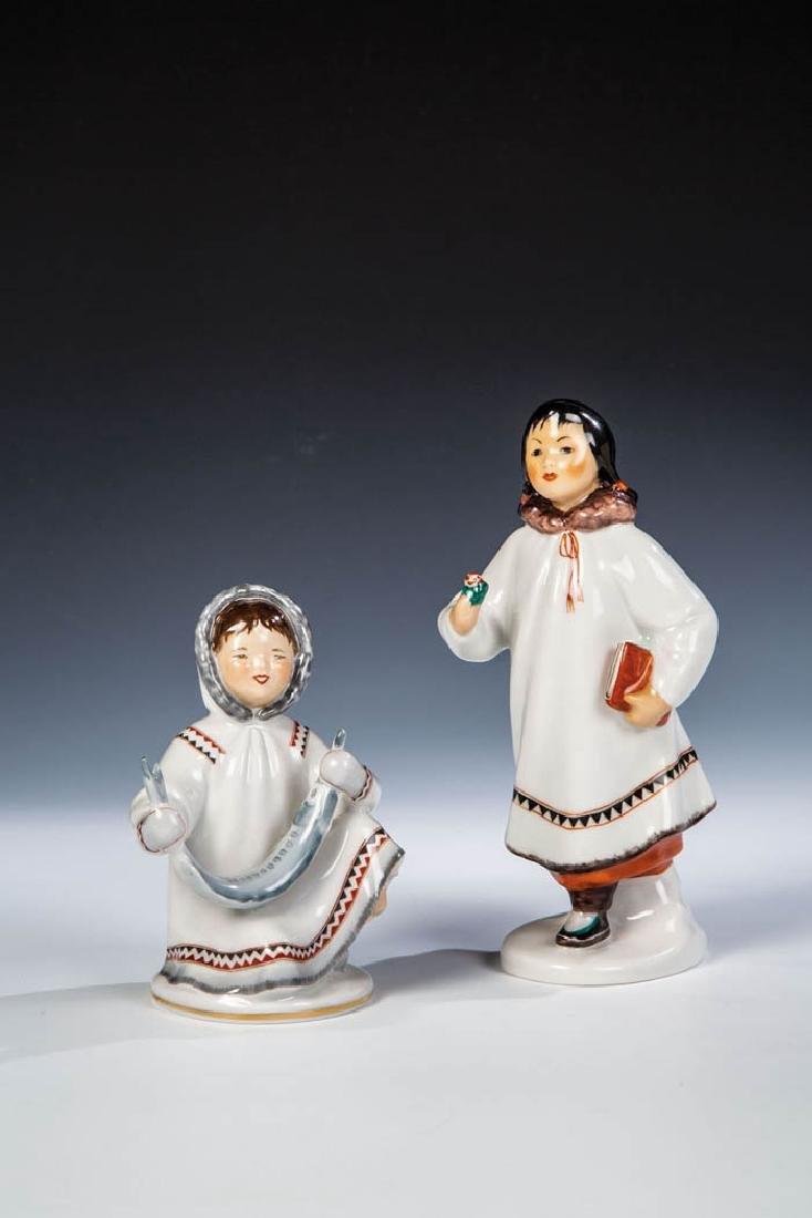 Zwei Eskimo Mädchen