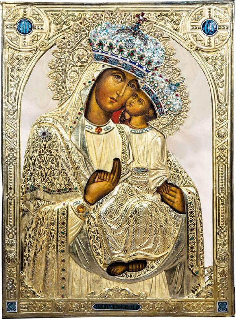 Museale Ikone mit der Gottesmutter von Korec