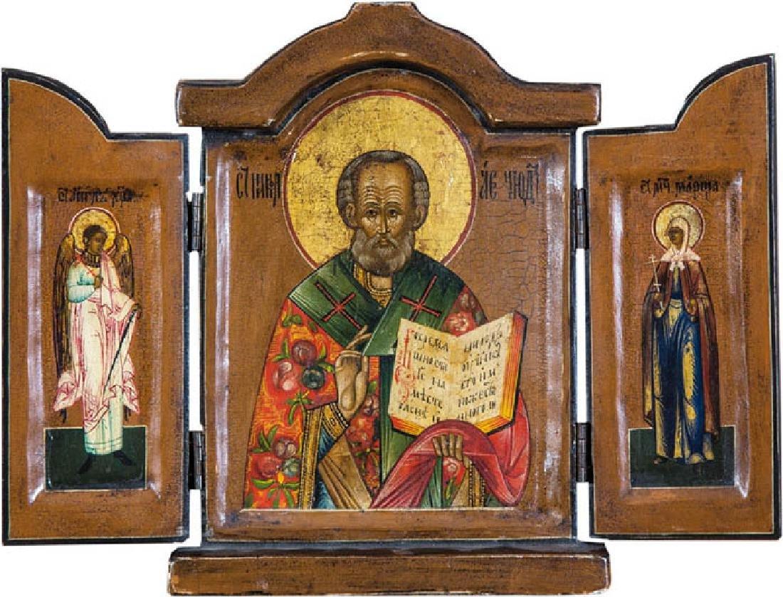 Triptychon mit dem Heiligen Nikolaus