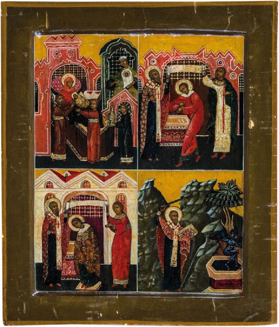 Nikolaus von Myra mit Szenen aus seinem Leben