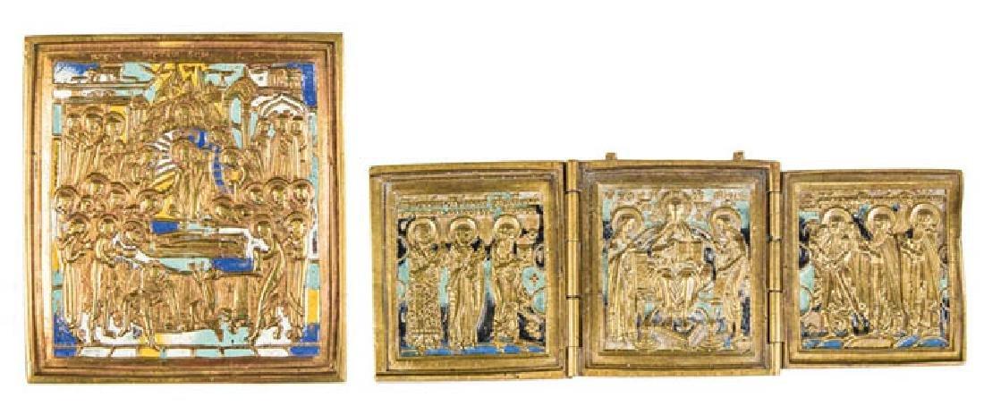 Triptychon und Entschlafen der Gottesmutter