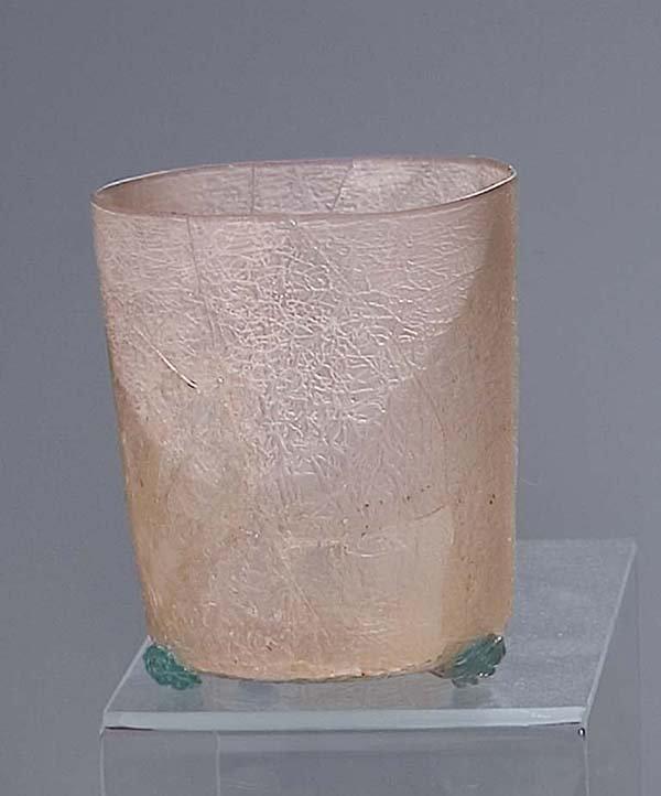 1: Becher 16. Jh  glass beaker Facon de Venise
