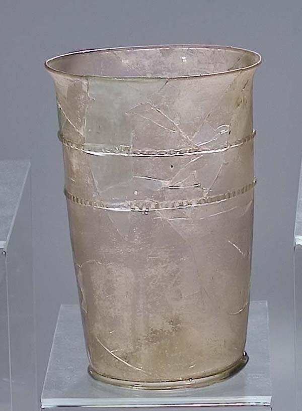 2: seltener Becher 16 Jh  rare glass beaker