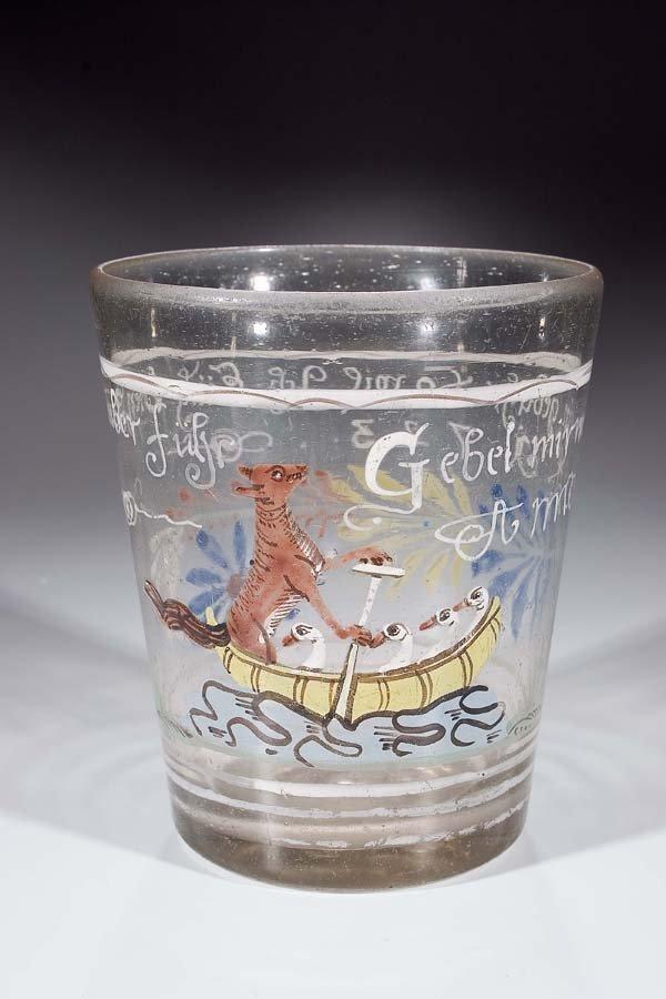 168: Becher 1723  Glass Beaker German