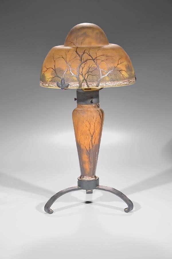 427: Tischlampe Daum Nancy um 1900 Table Lamp