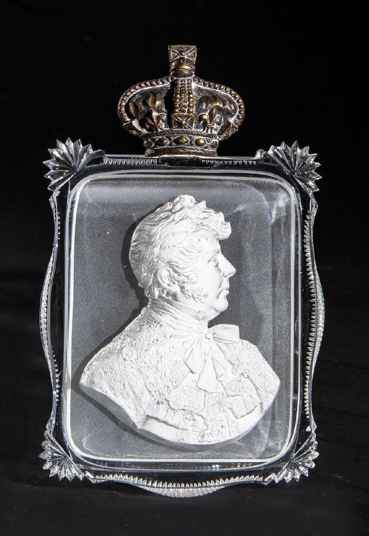 Pastenplakette mit Bildnis von George IV. von England