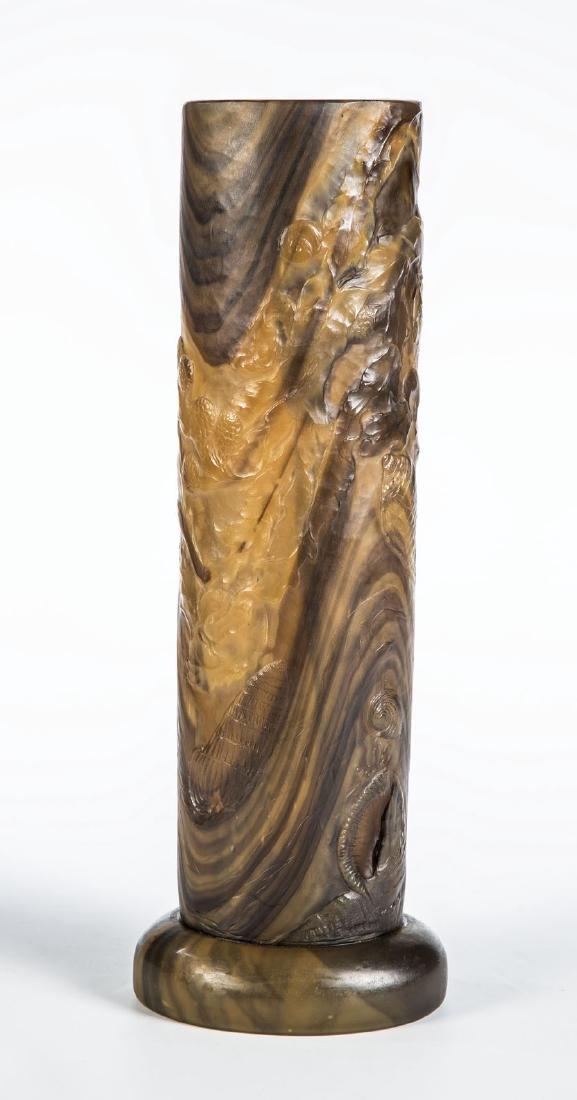 Bedeutende Vase mit Unterwasserdekor