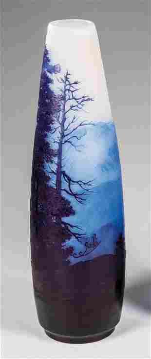 Große Vase mit Alpenpanorama