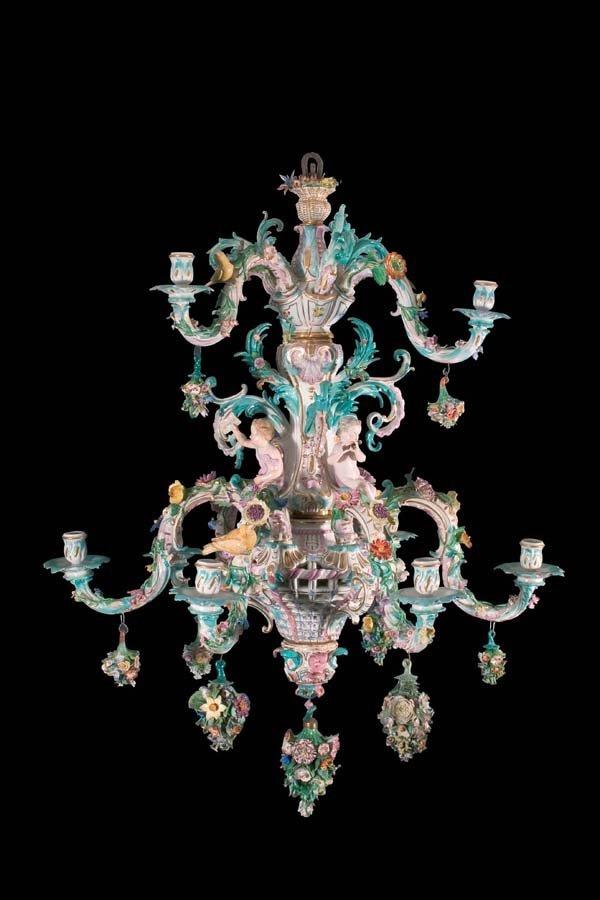 1: Deckenleuchter Meissen 1860 chandelier