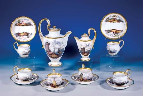 6: Kaffeeservice Meissen 19. Jh rare coffee set
